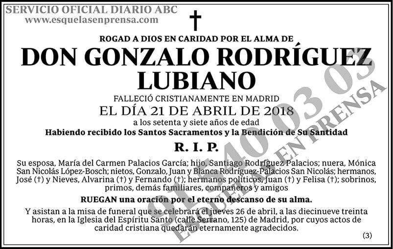 Gonzalo Rodríguez Lubiano
